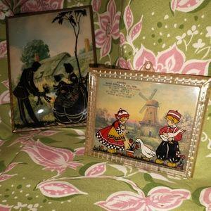 2 VINTAGE FABULOUS SHADOW BOX PICTURES